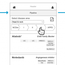 UX Design of Interactive Clinical Pipeline